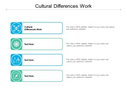 Cultural Differences Work Ppt Powerpoint Presentation Gallery Skills Cpb