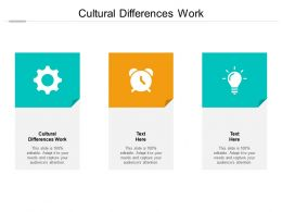Cultural Differences Work Ppt Powerpoint Presentation Pictures Guidelines Cpb