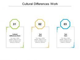 Cultural Differences Work Ppt Powerpoint Presentation Styles Deck Cpb