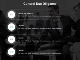 Cultural Due Diligence Ppt Powerpoint Presentation Slides Designs Download Cpb
