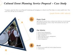 Cultural Event Planning Service Proposal Case Study Ppt Powerpoint Presentation Tips