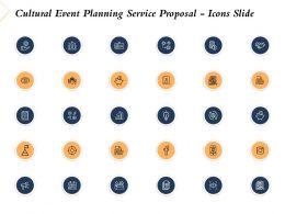 Cultural Event Planning Service Proposal Icons Slide Ppt Powerpoint Presentation Slides