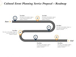 Cultural Event Planning Service Proposal Roadmap Ppt Powerpoint Presentation Model