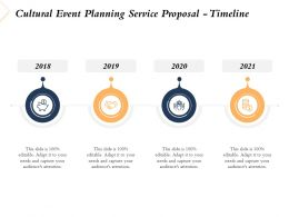 Cultural Event Planning Service Proposal Timeline Ppt Powerpoint Presentation Grid