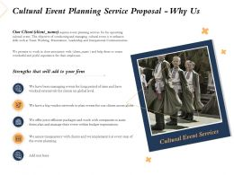 Cultural Event Planning Service Proposal Why Us Ppt Powerpoint Presentation Slides
