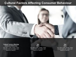 Cultural Factors Affecting Consumer Behaviour Ppt Powerpoint Presentation Infographics Influencers Cpb