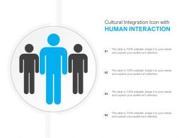 Cultural Integration Icon With Human Interaction