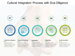 Cultural Integration Process With Due Diligence