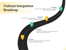 Cultural Integration Roadmap Audiences Attention Editable Ppt Powerpoint Guide