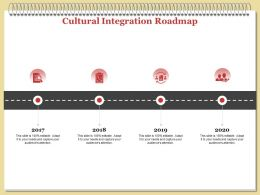 Cultural Integration Roadmap L1896 Ppt Powerpoint Presentation Layouts Format Ideas