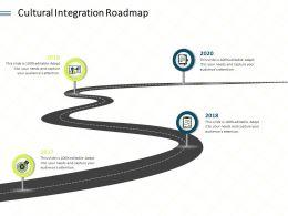 Cultural Integration Roadmap L1903 Ppt Powerpoint Presentation Slides Display