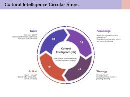 Cultural Intelligence Circular Steps Knowledge Strategy Action Drive