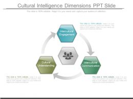 Cultural Intelligence Dimensions Ppt Slide