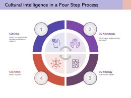 Cultural Intelligence In A Four Step Process Knowledge Strategy