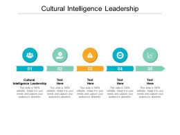 Cultural Intelligence Leadership Ppt Powerpoint Presentation Professional Smartart Cpb