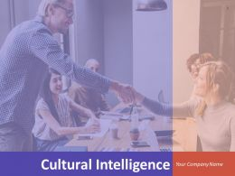 Cultural Intelligence Powerpoint Presentation Slides