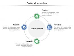 Cultural Interview Ppt Powerpoint Presentation Slides Backgrounds Cpb