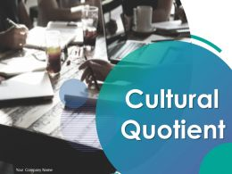 Cultural Quotient Powerpoint Presentation Slides