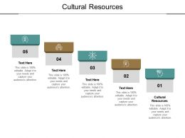 Cultural Resources Ppt Powerpoint Presentation Icon Templates Cpb