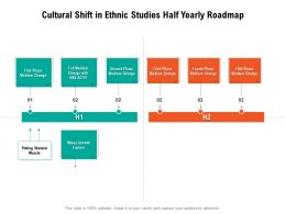 Cultural Shift In Ethnic Studies Half Yearly Roadmap