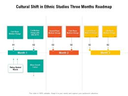 Cultural Shift In Ethnic Studies Three Months Roadmap