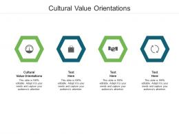 Cultural Value Orientations Ppt Powerpoint Presentation Infographic Template Show Cpb