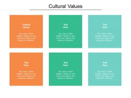 Cultural Values Ppt Powerpoint Presentation Slides Display Cpb