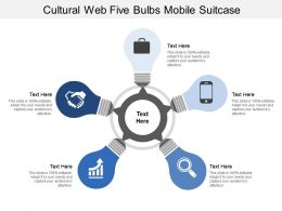 Cultural Web Five Bulbs Mobile Suitcase