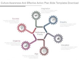 Culture Awareness And Effective Action Plan Slide Templates Download