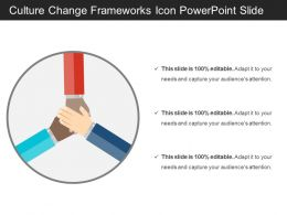 Culture Change Frameworks Icon Powerpoint Slide