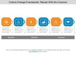 Culture Change Frameworks Tabular With Six Columns