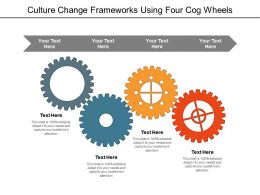 Culture Change Frameworks Using Four Cog Wheels