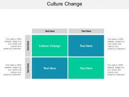 Culture Change Ppt Powerpoint Presentation Slides Brochure Cpb