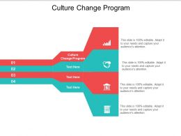 Culture Change Program Ppt Powerpoint Presentation Icon Infographics Cpb