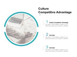 Culture Competitive Advantage Ppt Powerpoint Presentation Gallery File Formats Cpb
