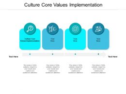 Culture Core Values Implementation Ppt Powerpoint Presentation Slides Portrait Cpb