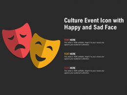 Culture Event Icon With Happy And Sad Face