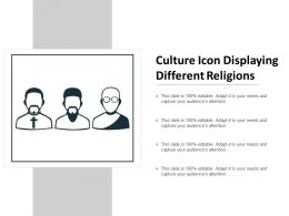 Culture Icon Displaying Different Religions