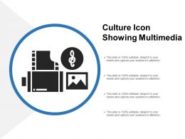 Culture Icon Showing Multimedia