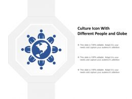 Culture Icon With Different People And Globe