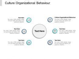 Culture Organizational Behaviour Ppt Powerpoint Presentation Portfolio Portrait Cpb