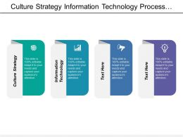 Culture Strategy Information Technology Process Alignment Process Refinement