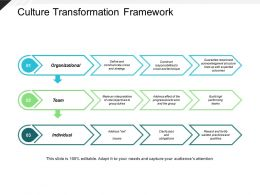 Culture Transformation Framework