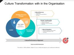 Culture Transformation With In The Organisation