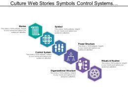 Culture Web Stories Symbols Control Systems Having Hexagonal Shaped