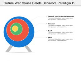 Culture Web Values Beliefs Behaviors Paradigm In Circular Fashion