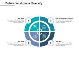 Culture Workplace Diversity Ppt Powerpoint Presentation Model Elements Cpb