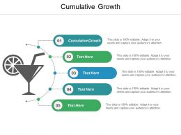 Cumulative Growth Ppt Powerpoint Presentation Icon Example Cpb