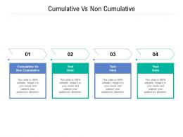 Cumulative Vs Non Cumulative Ppt Powerpoint Presentation Infographic Template Example Topics Cpb