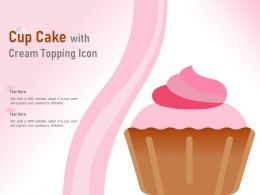 Cup Cake With Cream Topping Icon